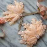 "Peach Feathers + Crystal Flapper 1920's Art Deco Headband Headpiece - Gatsby Downton Abbey ""Vera"". 20s Theme Party outfits"